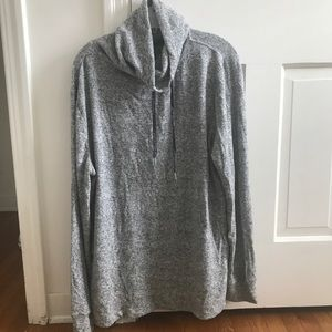 Express turtleneck drawstring sweater